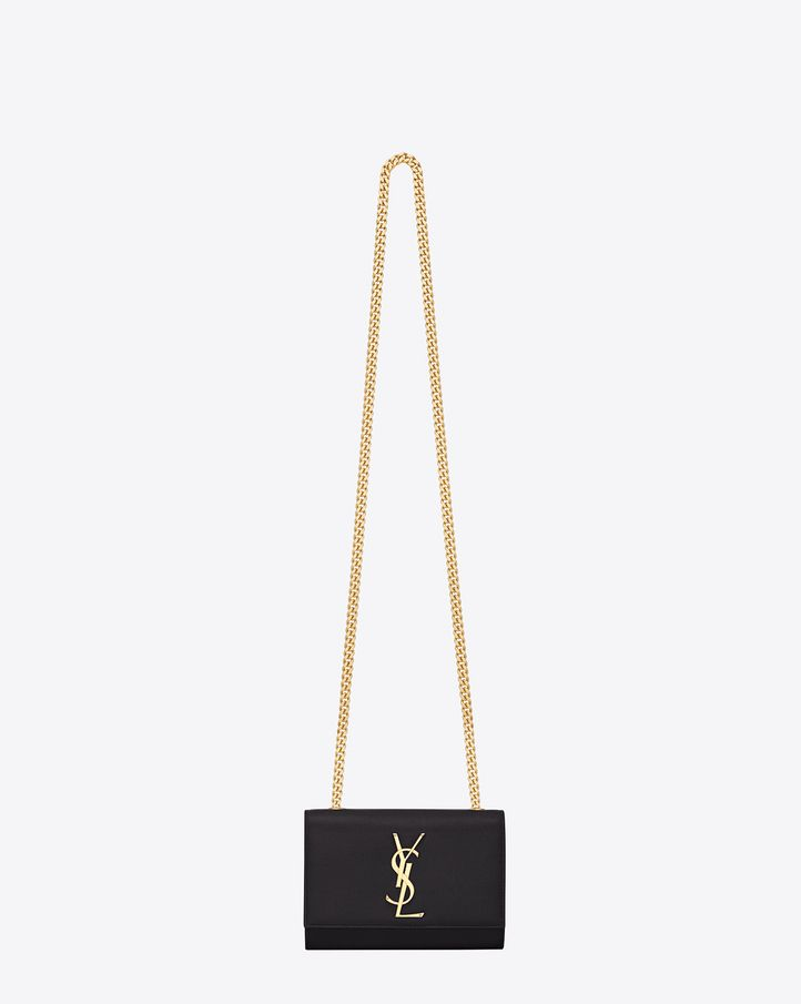39de6d78b4 Saint Laurent Classic Small Monogram Saint Laurent Satchel In Black Grain  De Poudre Textured Patent Leather | ysl.com
