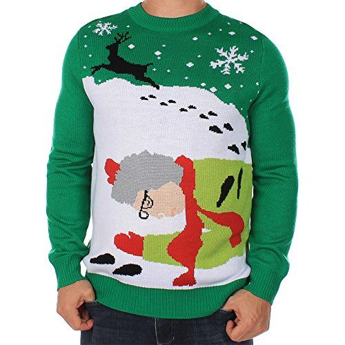 Grandma Got Run Over By A Reindeer Sweater. Mens Ugly Christmas SweaterReindeer  SweaterXmas ...