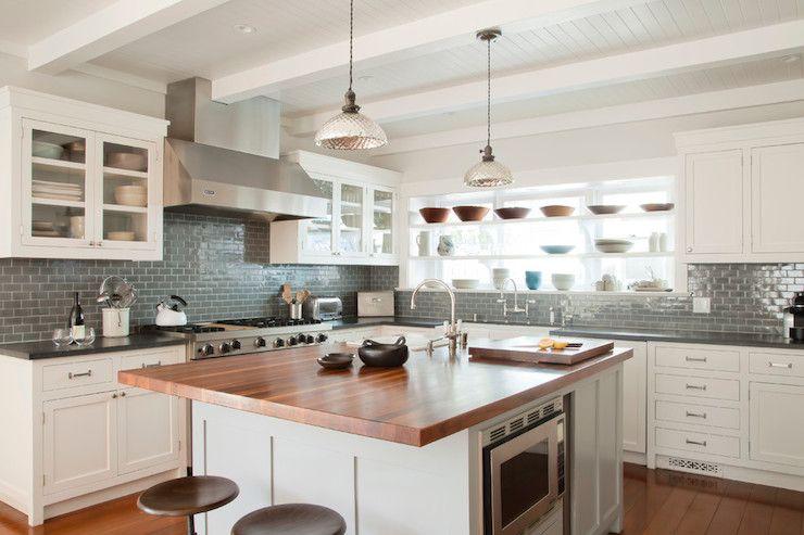 Best Creamy White Cabinets Dark Grey Whale Subway Tile 400 x 300