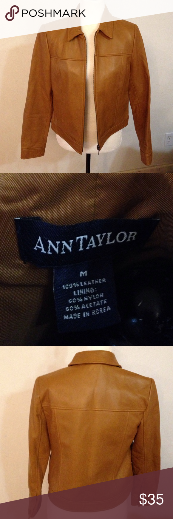 Ann taylor leather jacket Excellent good condition, no stains or flaws. As is Ann Taylor Jackets & Coats Jean Jackets