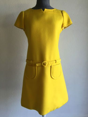 Vintage Courreges Made In France Cotton Yellow Dress From 1967 Size Small Clothing Shoes Accessories Women S 1977 89 Punk