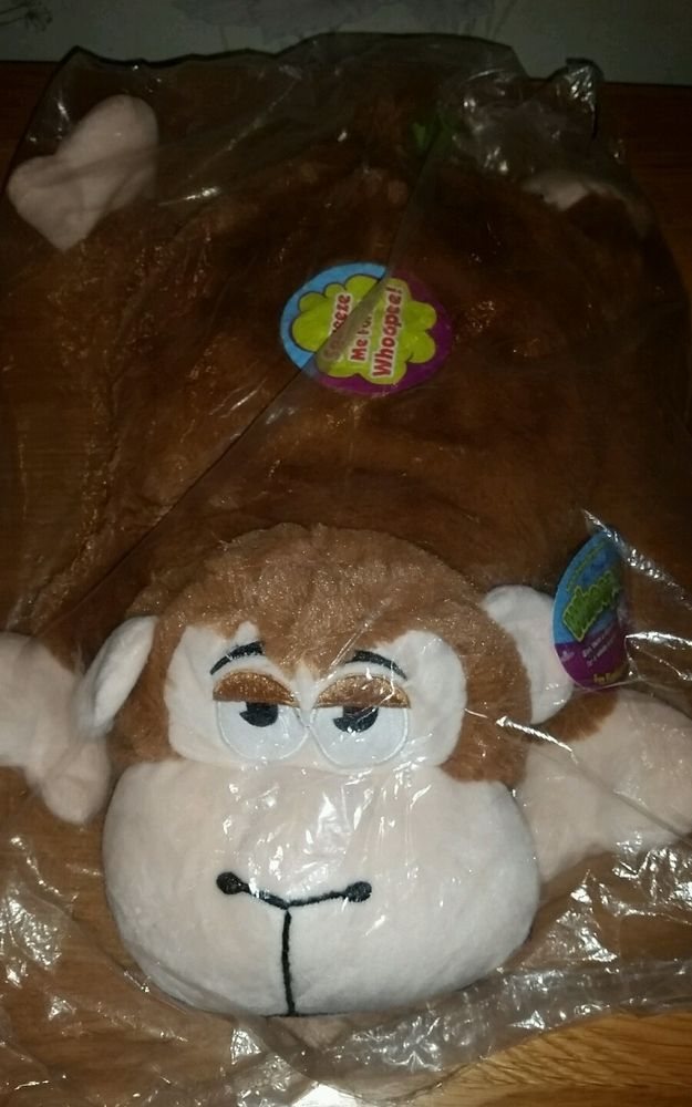 Snuggle Pets The Original Whoopie Pet Cushion Monkey New supper soft cute cudly