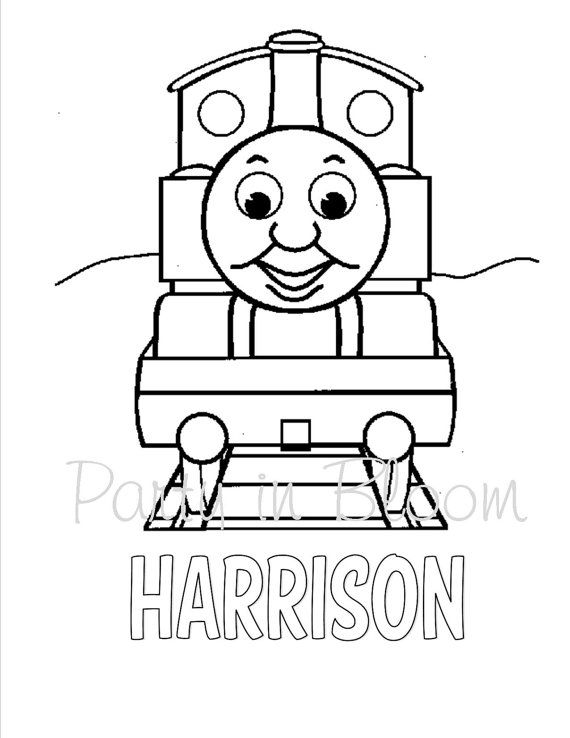Thomas The Train Color Your Own T Shirt Great Party Favors Train Coloring Pages Valentines Day Coloring Page Coloring Books