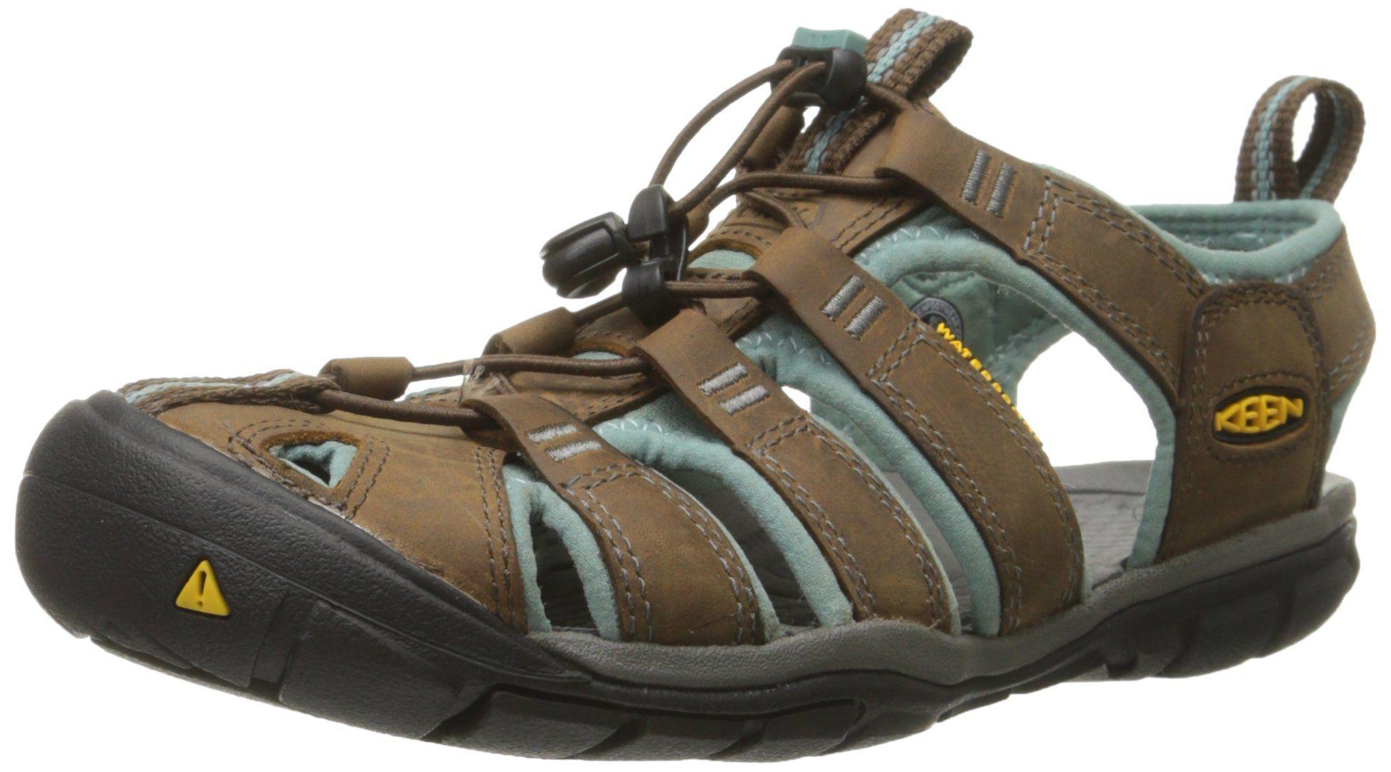 KEEN Women's Clearwater CNX Leather Sandal, Cascade