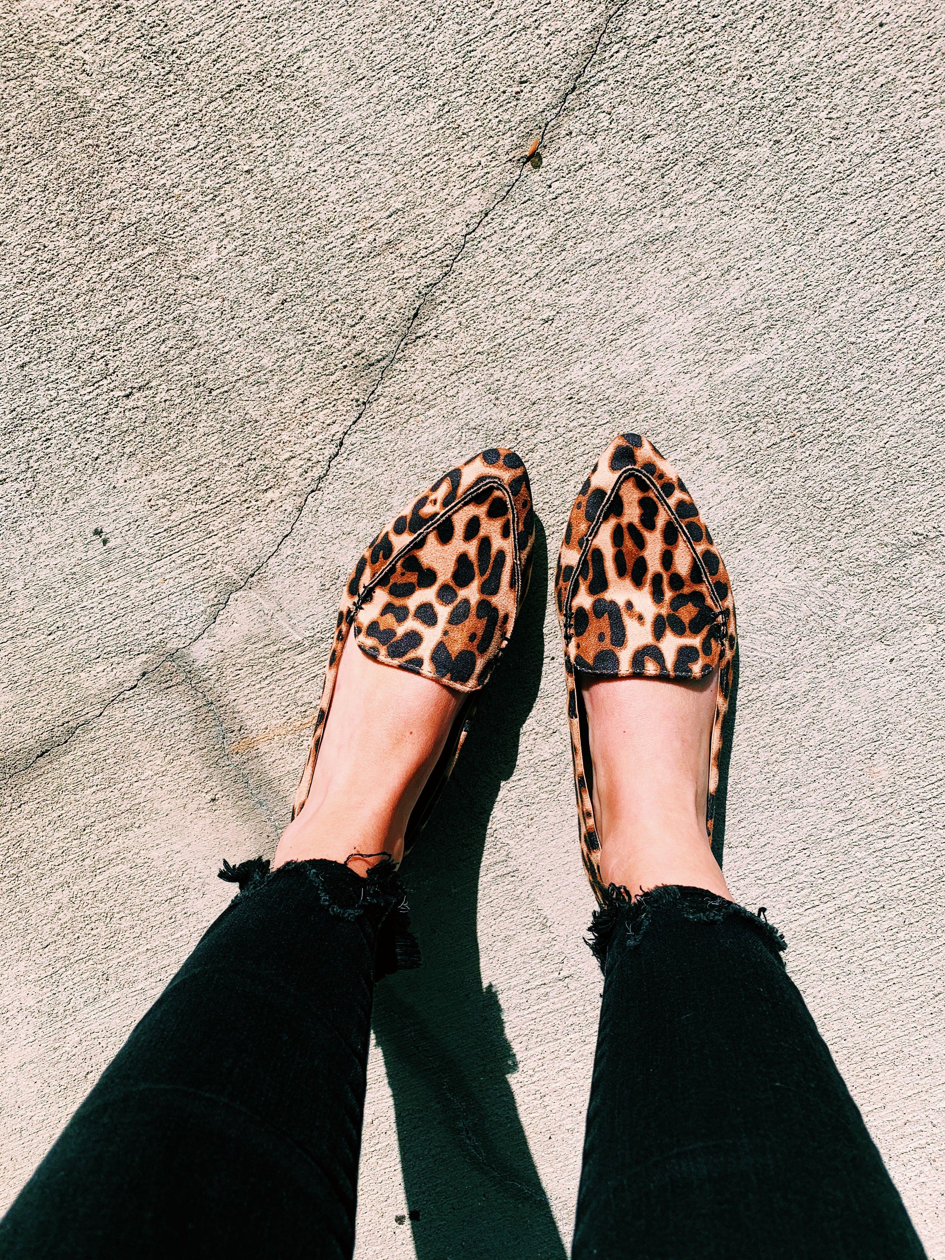 Leopard print shoes outfit