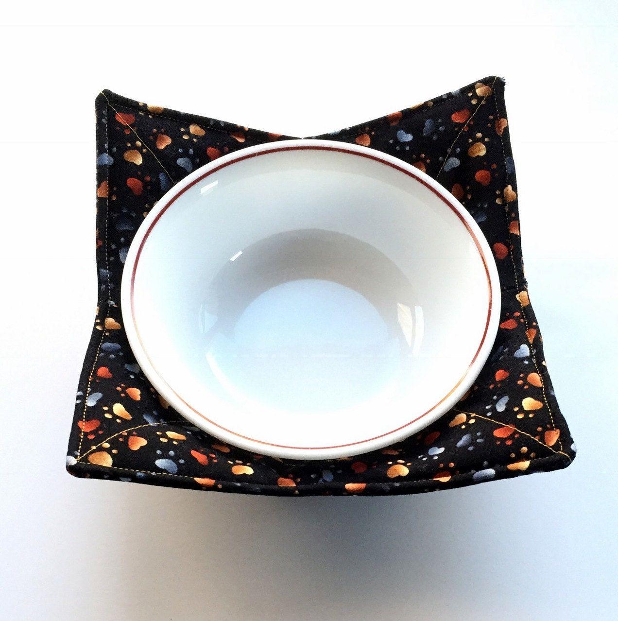 Cozy Microwave Bowl Holder Cat Owner Gift Microwave Cozy Cat Lover Gift Microwave Bowl Cozy Kitchen Gift Gift for Cat Lover