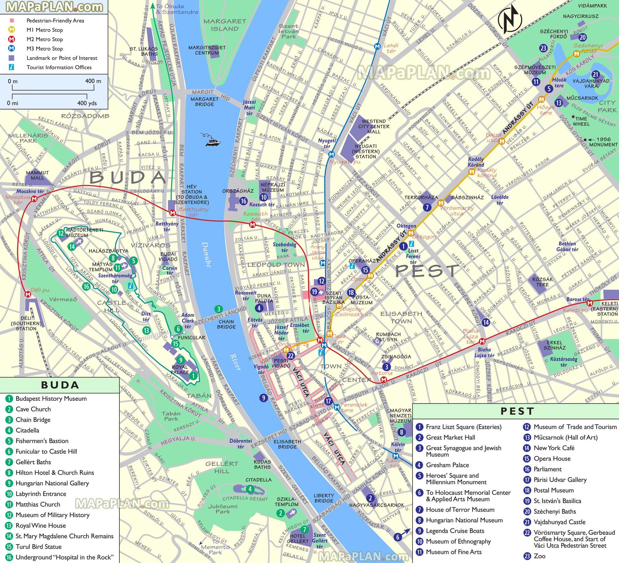 jewish quarter budapest map Points Of Interest Pedestrian Walking Area Metro Stop Shopping jewish quarter budapest map
