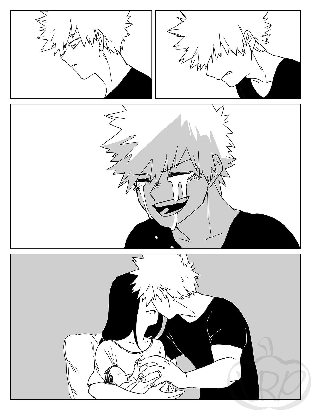 """Photo of Everyone has a story, mine is boring. — """"He's got a strong grip!""""  Bakumomo Week Day 6:…"""