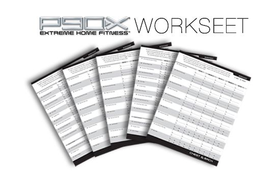 Collection of P90x Worksheets Pdf Sharebrowse – P90x Chest and Back Worksheet