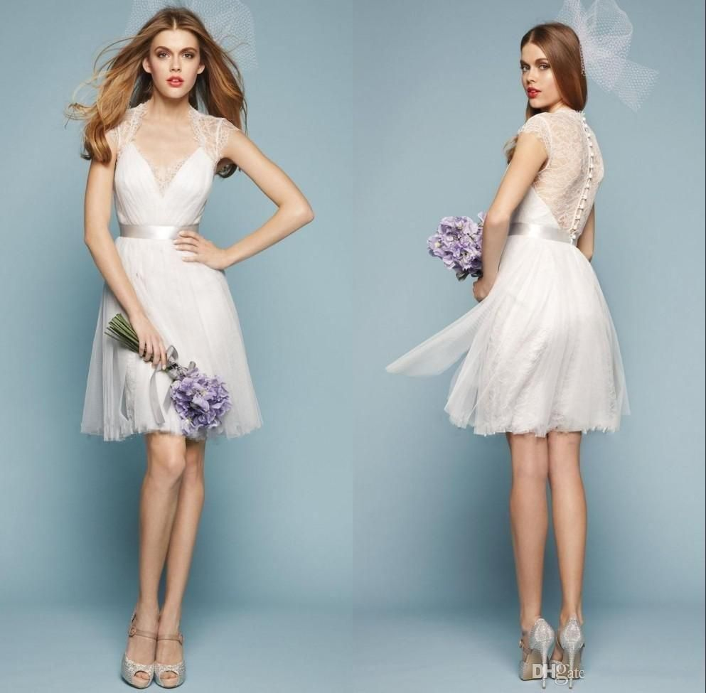 Cheap Zuhair Murad Bridesmaid Dresses White Lace Short A Line Prom ...