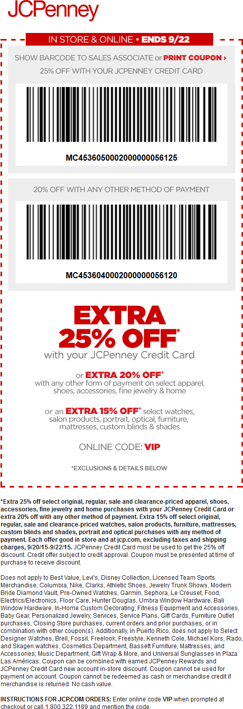 Make Payment To Jcpenney Credit Card Part - 48: Pinned September 21st: 20% Off At JCPenney Or Online Via Promo Code #VIP