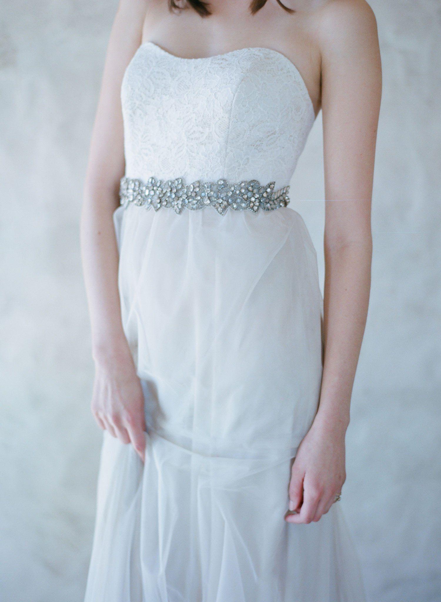 Antique crystal decadence headwrapsash style robe de
