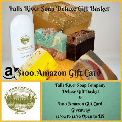 Falls River Soap Company Deluxe Gift Basket & $100 Amazon Gift Card Giveaway Ends 12/16
