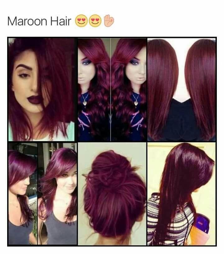 Love This Hair Color Hair Pinterest Hair Maroon Hair And Hair