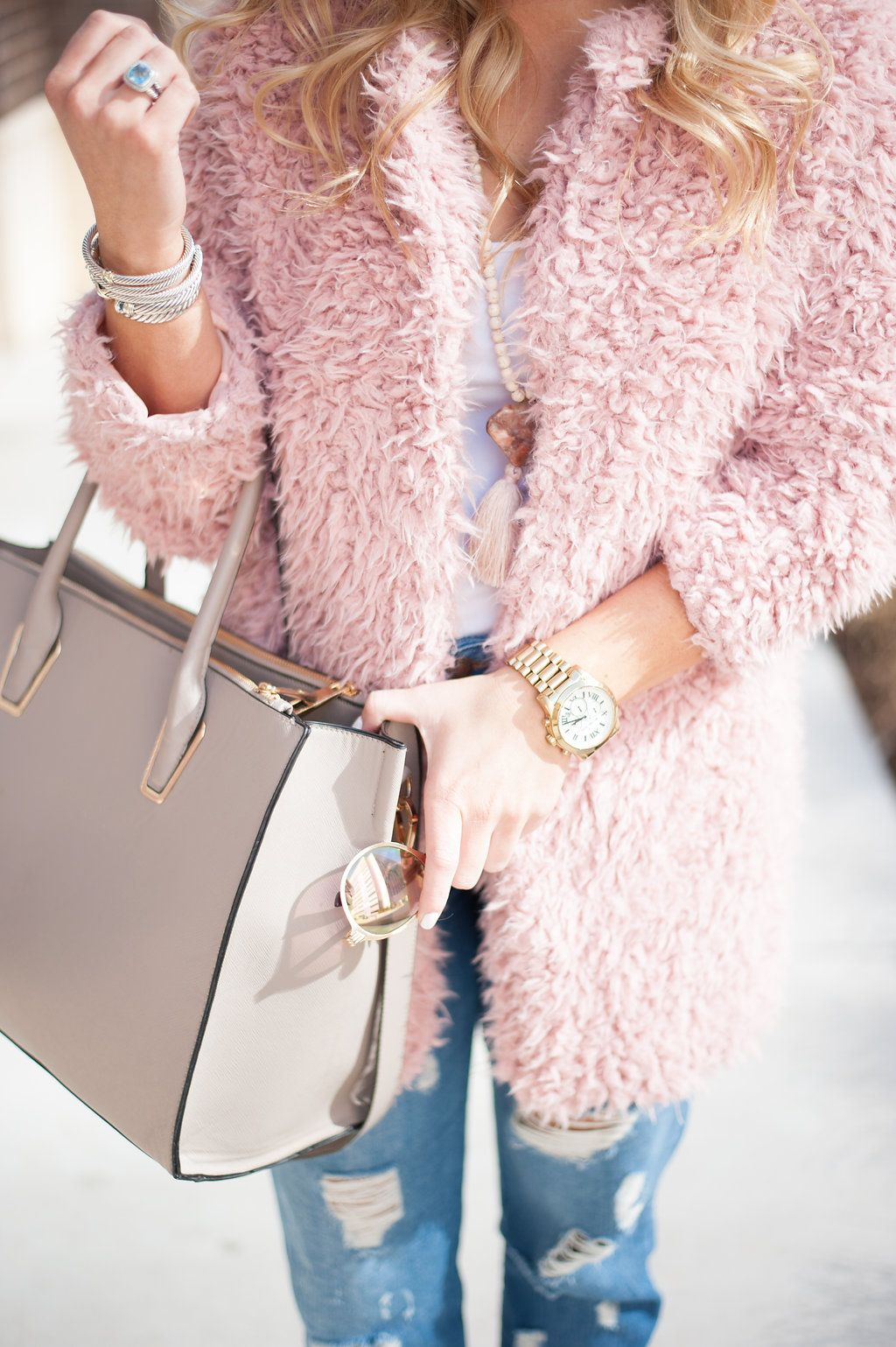 247a193f484 Fuzzy Blush Coat