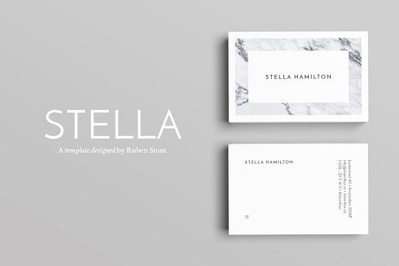 Stella business cards by ruben stom on creativemarket stella business cards by ruben stom on creativemarket businesscardmaker business card maker pinterest business cards business card maker and colourmoves