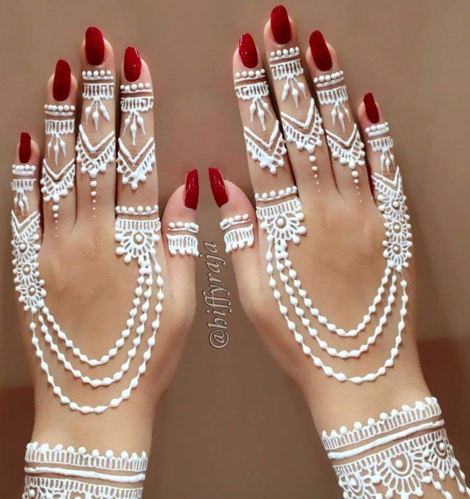 White Henna Is Gaining Popularity In The West Especially With Those