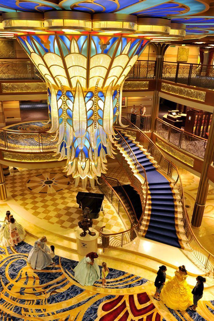 Disney dream cruise ship interior atrium lobby niepers disney dream disney dream for The world cruise ship interior
