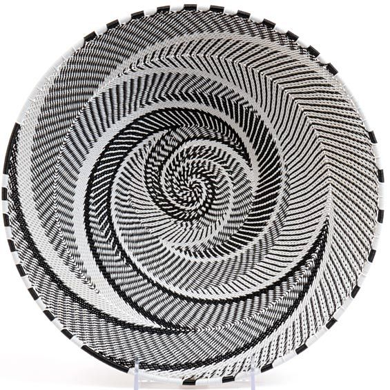 South African Baskets: Telephone Wire Weaved Basket Platter