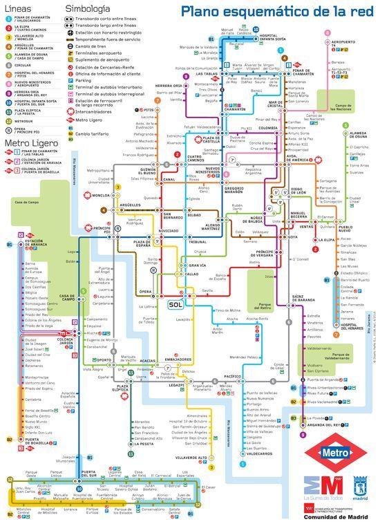 mapa metro madrid l neas hasta el infinito en 2019 plan de m tro espagne y andalousie. Black Bedroom Furniture Sets. Home Design Ideas