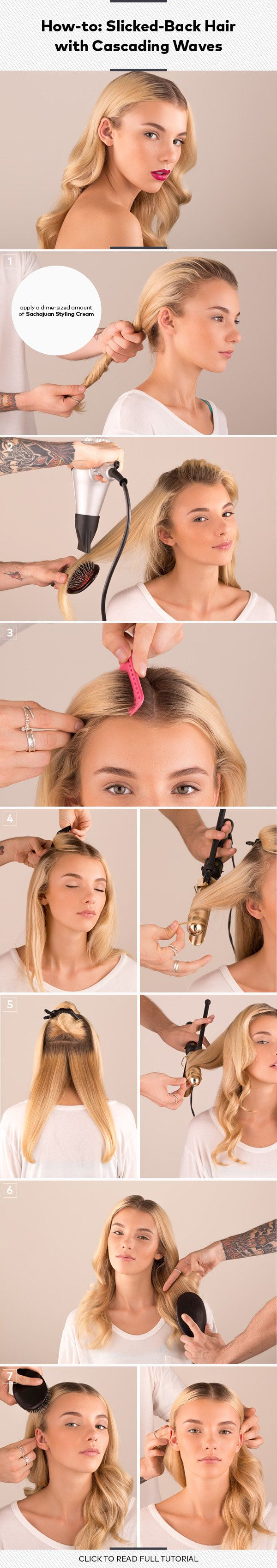 How-to: Slicked-Back Hair with Cascading Waves