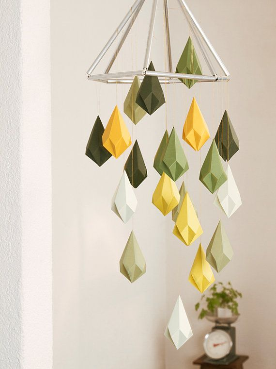 crystal template for decorating i triangles geometric