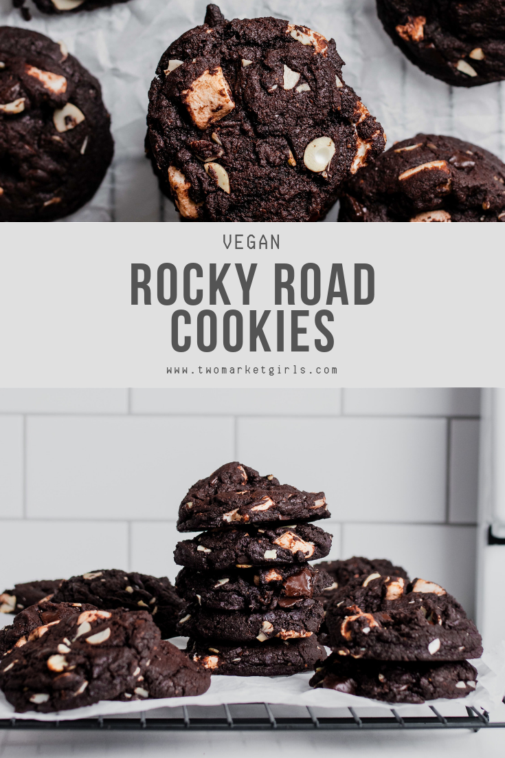CHOCOLATE-Y ROCKY ROAD COOKIES >> vegan dessert recipe