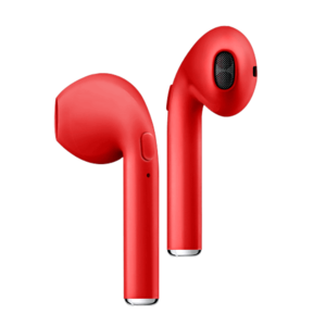 Red Airpods Wireless 5 0 Candypods Com Wireless Headphones Airpod Case Wireless