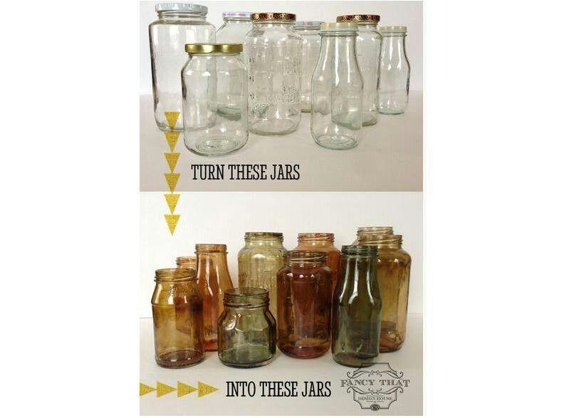 Tinting glass jars Jar crafts, Mason jar crafts, Mason jars