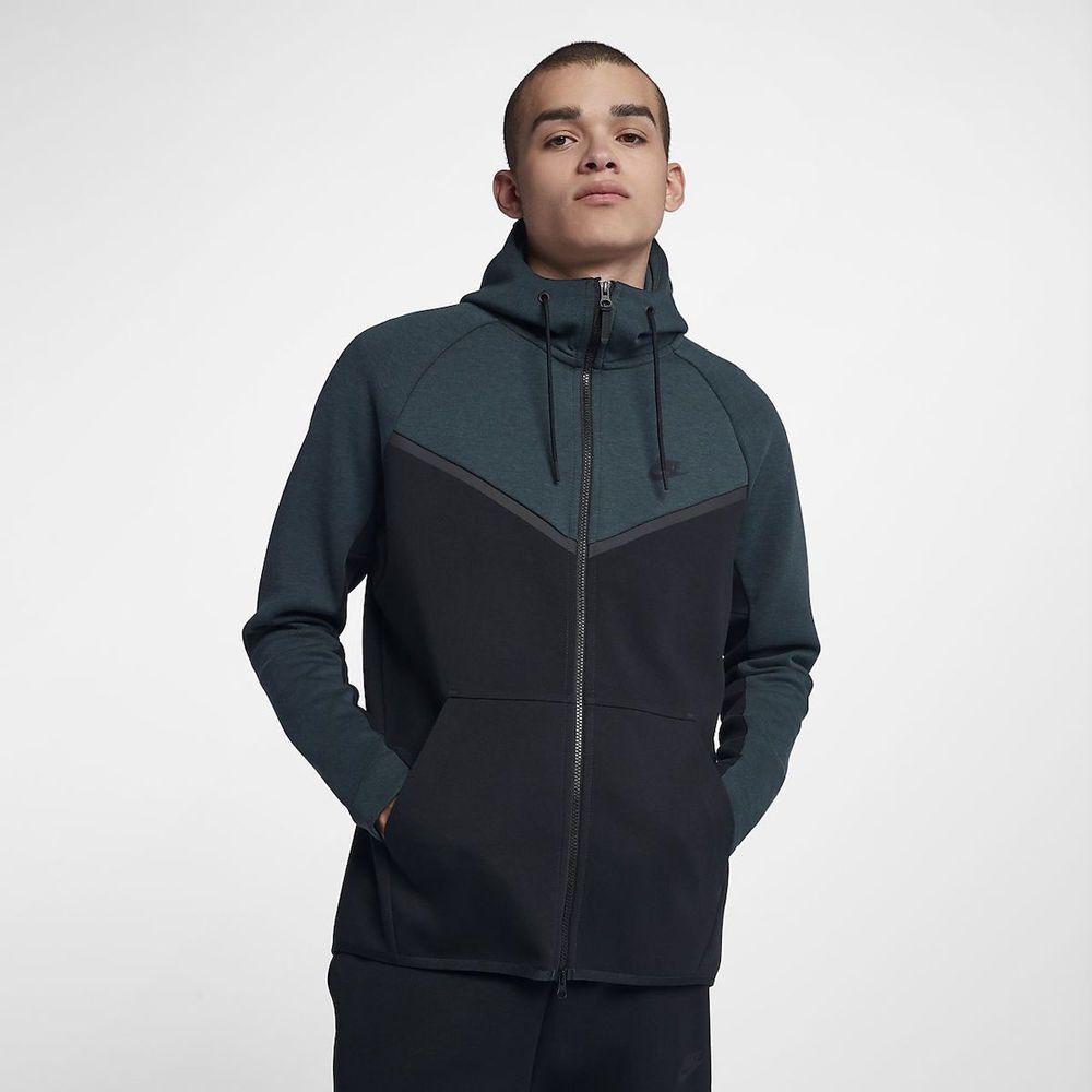 Nike Tech Fleece Wind Runner Hoodie Jungle Green Black 885904 328 Size S Fashion Clothing Shoes Accessories Mensclothing Activewear Ebay Link [ 1000 x 1000 Pixel ]