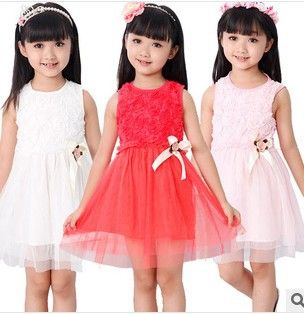 2014 summer girls dress princess baby clothes kids dress children dress size for girls tutu dress Retail free shipping