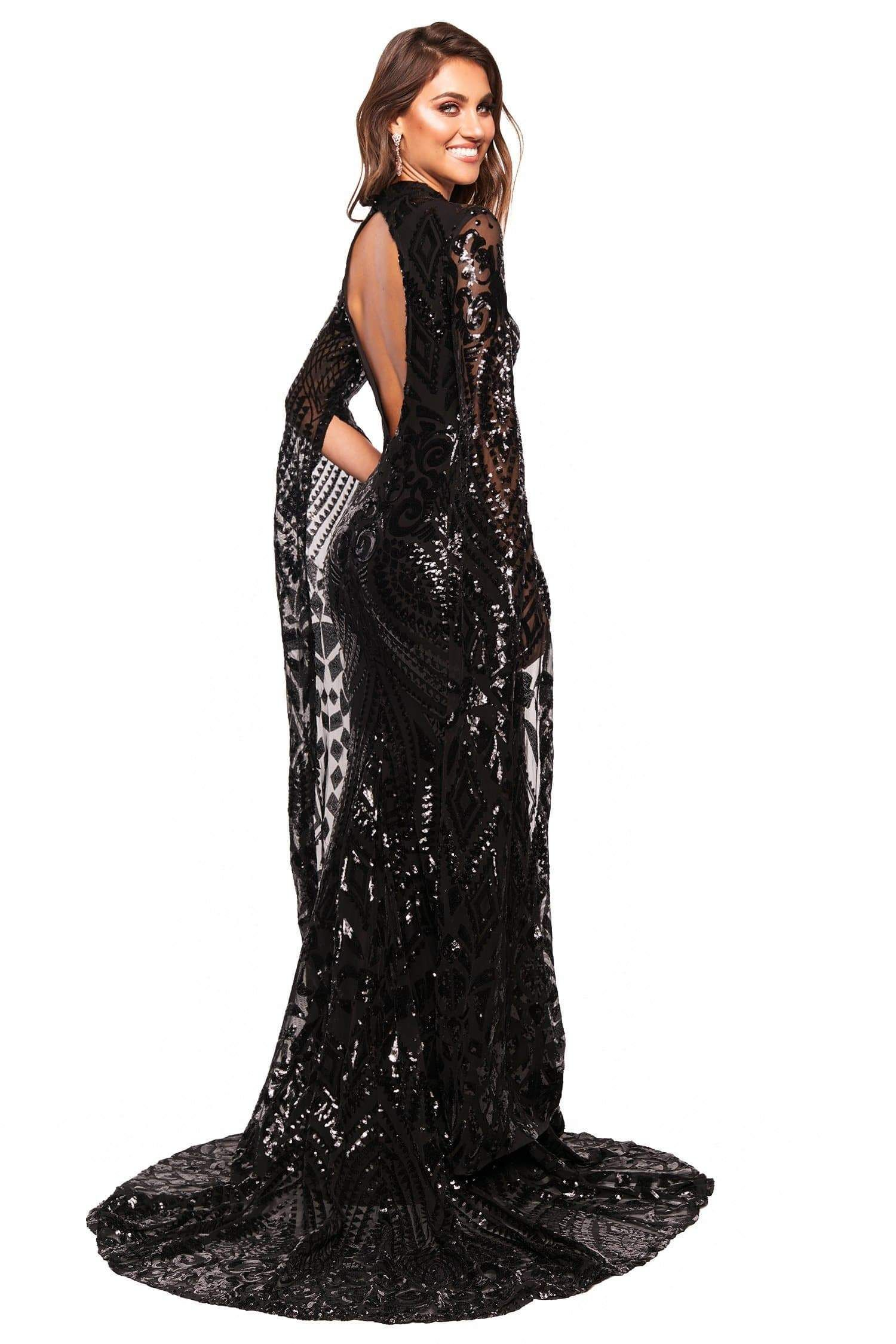 A N Luxe Kenya Gown Black In 2020 Prom Dresses Blue Gowns Dresses