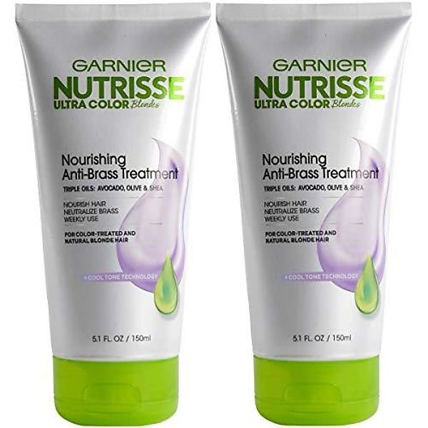 Hair Care Nutrisse ultra color blondes anti brass toner, nourishing anti brass treatment, brass neutralizer treatment packaging may vary, 2 Count Gallery