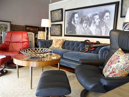 Stressless Loft , Amazing Wesley Hall Blue Velvet Sofa Just Underneath The  Fabulous Four!