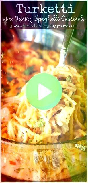 Leftover Turkey Spaghetti Casserole  Creamy spaghetti loaded with ch  Body and soul Turketti Leftover Turkey Spaghetti Casserole  Creamy spaghetti loaded with ch  Body an...