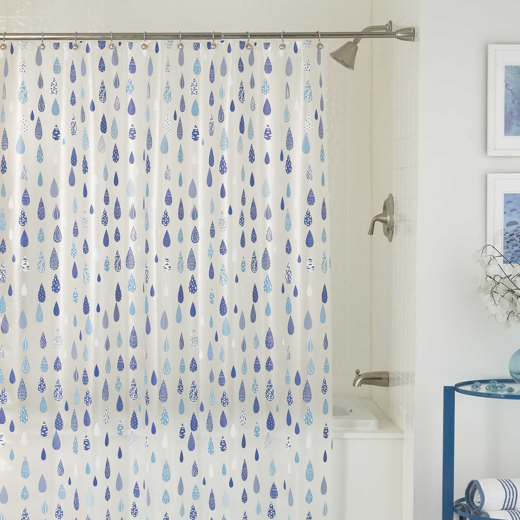 April Showers 70 Inch X 72 Inch Shower Curtain