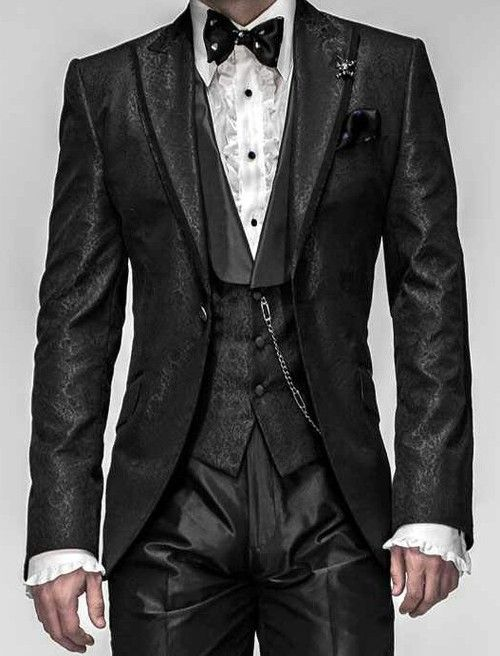Gothic Wedding Suits For Men