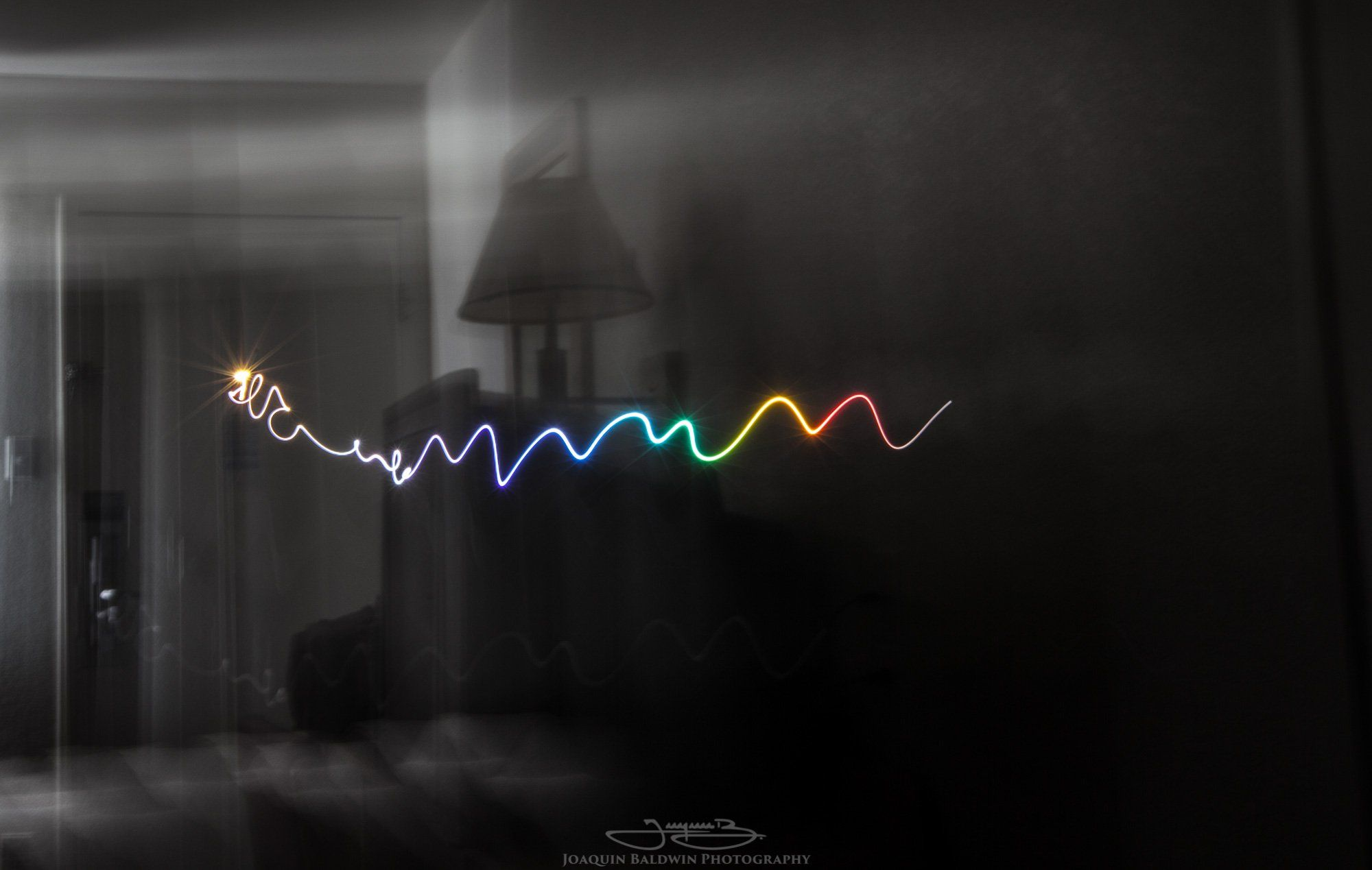Interesting Photo of the Day: Motel 6 Rainbow Light Painting - http://thedreamwithinpictures.com/blog/interesting-photo-of-the-day-motel-6-rainbow-light-painting