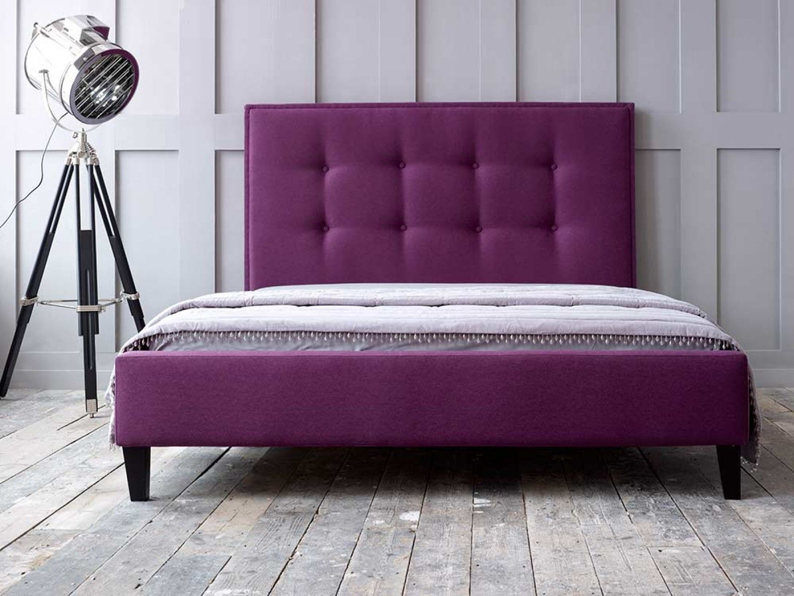 Ivy Short Bed Living It Up Blue bedroom, Buttoned