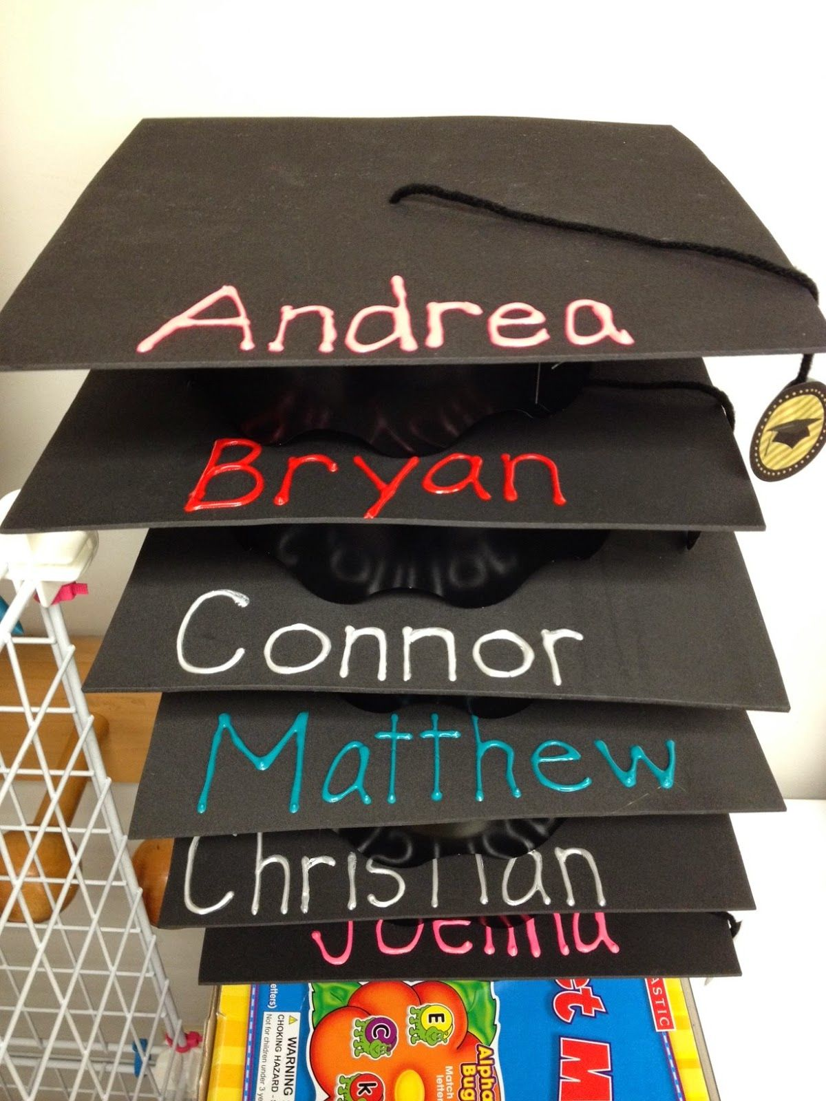Graduation Cap Easy Made With Black Foam Paper And