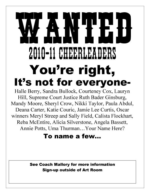 cheer tryout poster ideas Cheerleading Pinterest Cheer tryouts