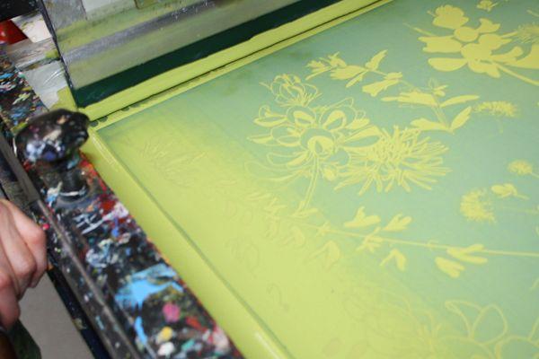 Hand screen printing process