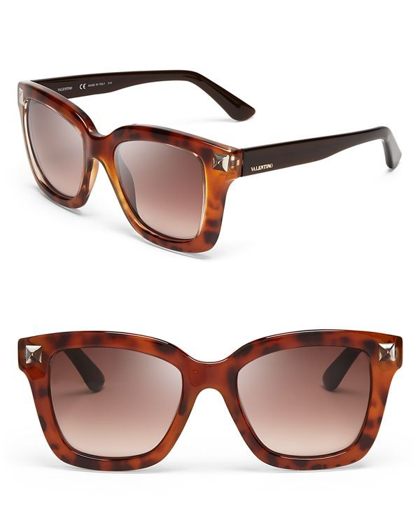 Valentino Floating Rockstud Square Sunglasses