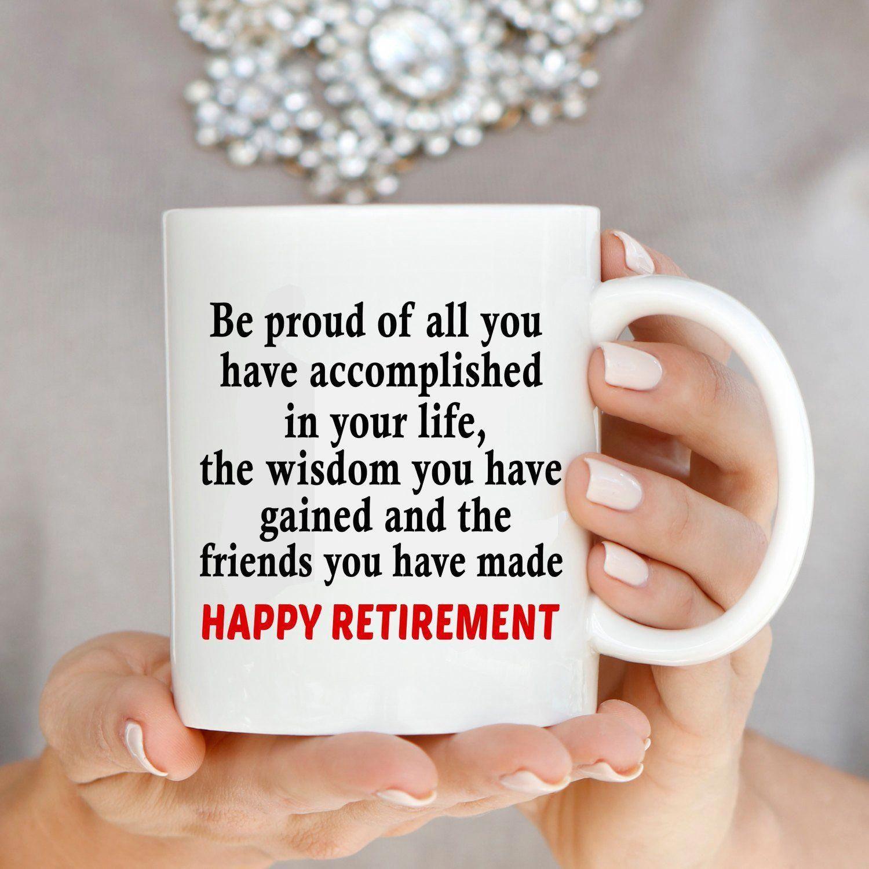 Inspirational happy retirement gift for retired teacher
