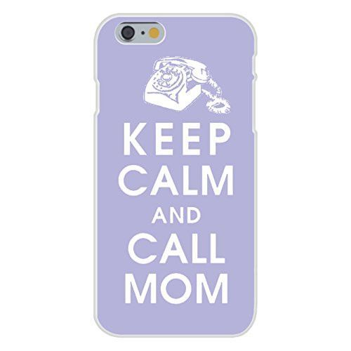 Apple iPhone 6 Custom Case White Plastic Snap On - Keep Calm and Call Mom Telephone