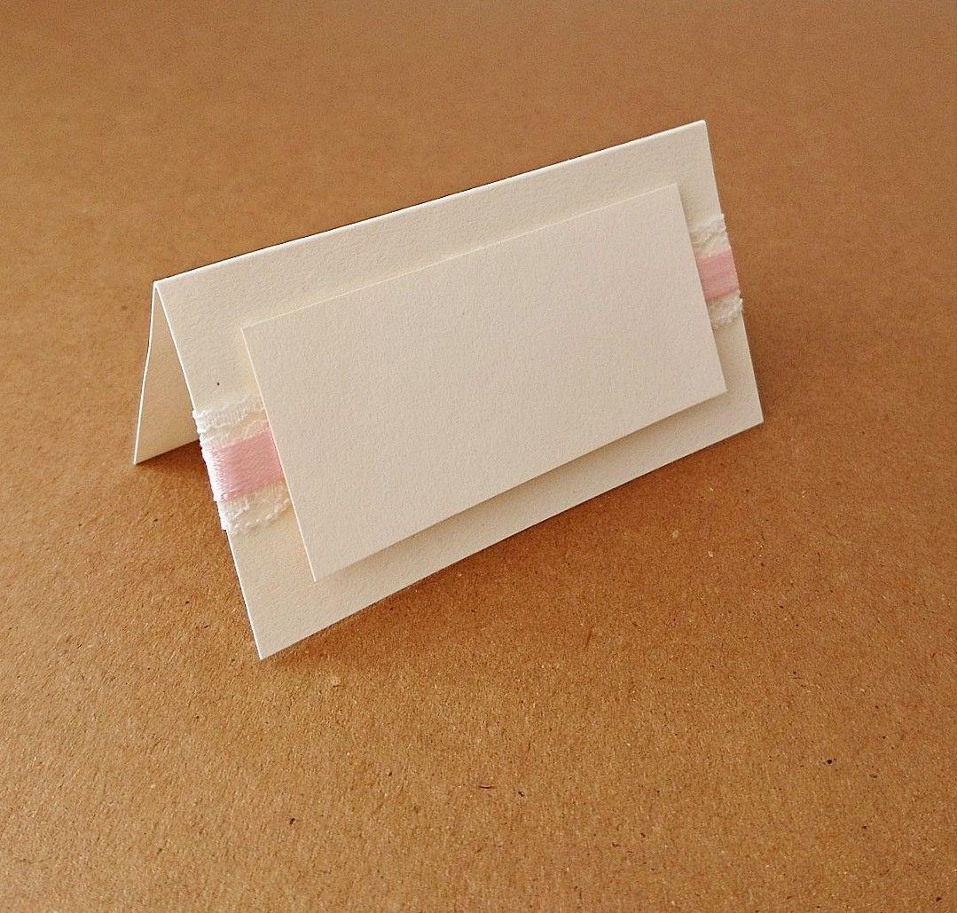 Tischkarte White Lace Mit Romantischem Spitzenband Verziert