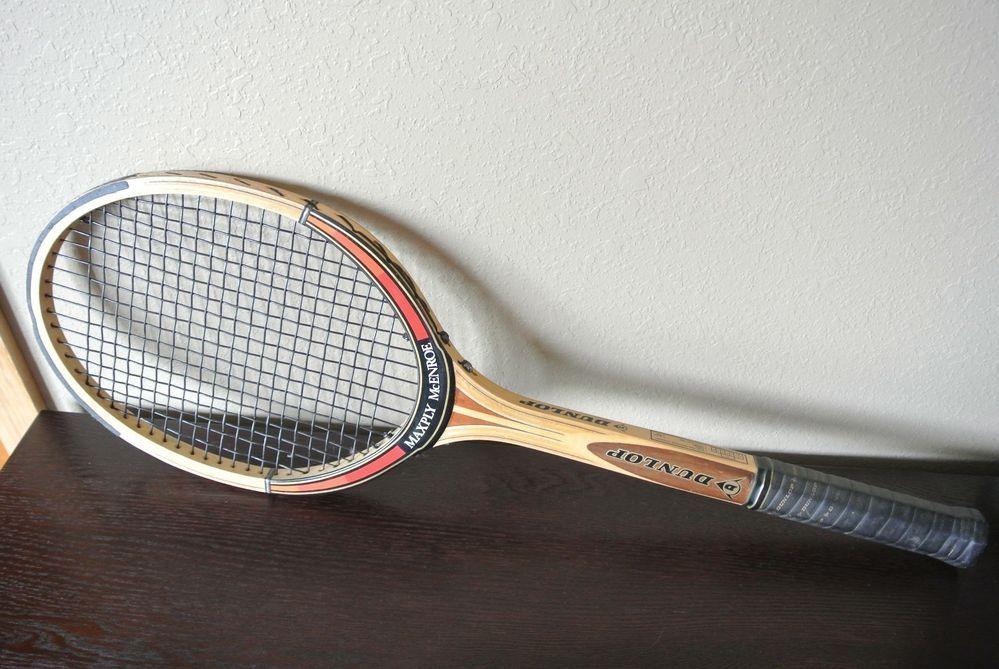 Vintage Dunlop Maxply John McEnroe Wood Tennis Racquet ...