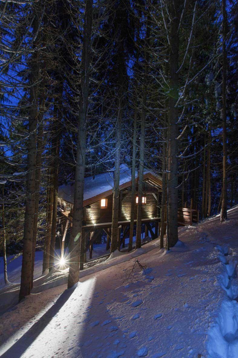 Cabane Dans Les Arbres Face Au Mont Blanc Entre Terre Et Ciel Entre Terre Et Ciel Mont Blanc Cabane Dans Les Arbres