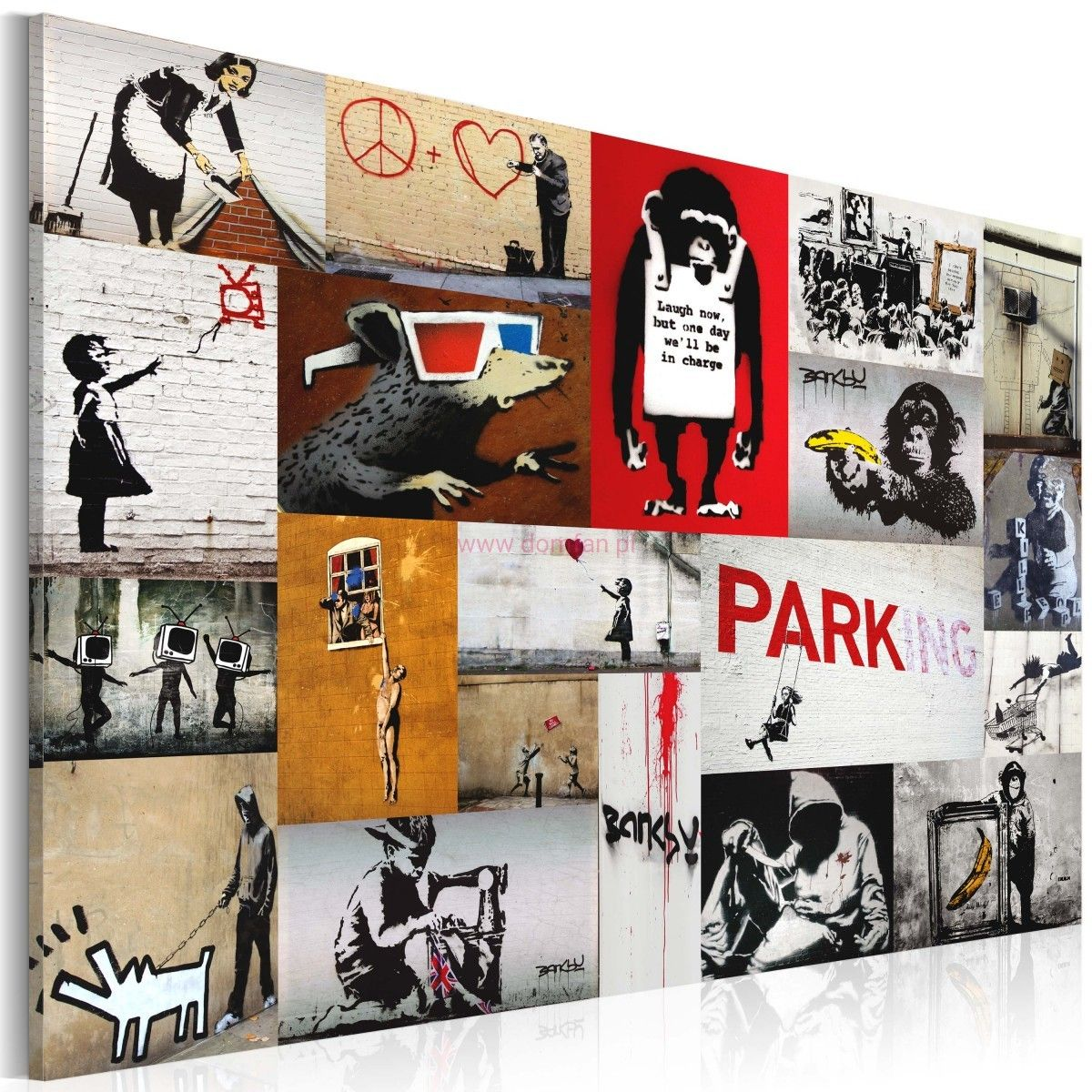 Obraz Banksy Kolaz With Images Banksy Obrazy Kolaz