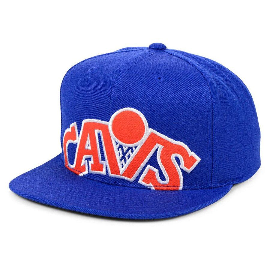 buy online 7c9f3 22549 Cleveland Cavaliers Mitchell   Ness Hardwood Classics Cropped Snapback Hat  – Blue, Your Price